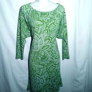 Michael Kors green Paisley dress